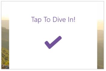 Pilihan Tap To Dive In