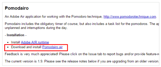 Berada unduh Pomodairo