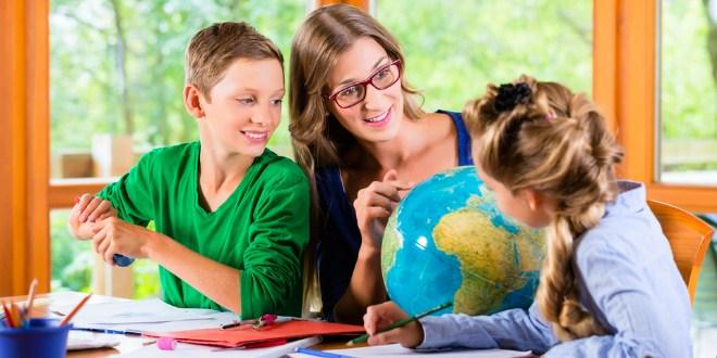Mengajari anak geografi
