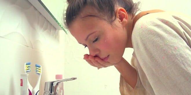Cara menghilangkan ngantuk dengan cuci muka
